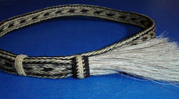 "Western Decor Cowboy HAT BAND Woven 7 Strand Horsehair W//2 Tassel 7//8/"" Wide"