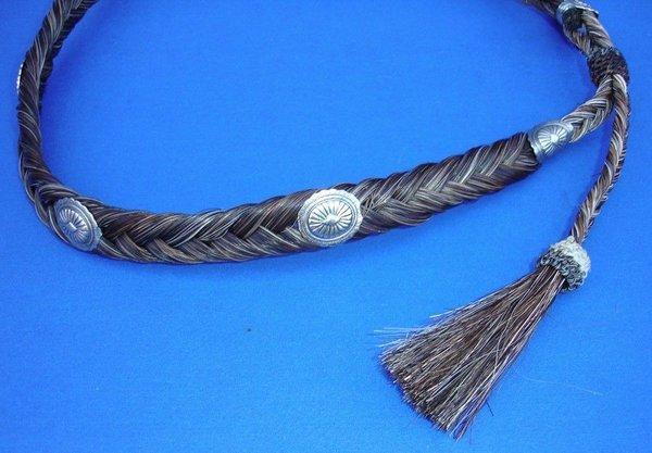 Western Rodeo Cowboy Cowgirl Handmade Chestnut Horsehair