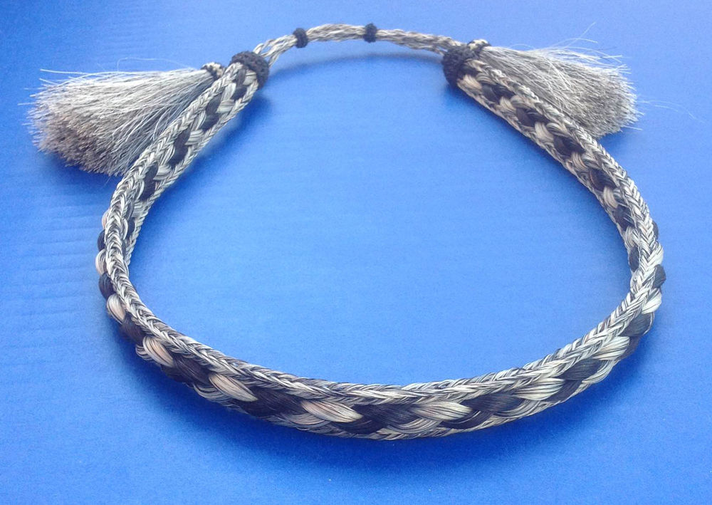 95faa4a57e7 Woven 5 Strand Horsehair With Tassels 1 2